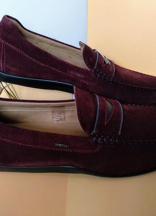 Туфли слипоны лоферы geox