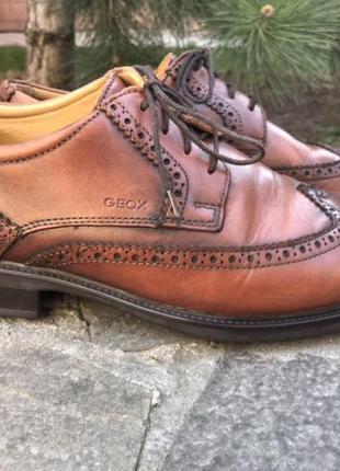 Туфли броги оксфорды geox геокс