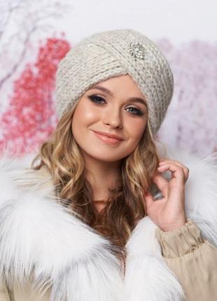 Стильная чалма зима, шапка-тюрбан,