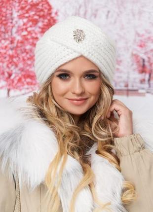 Стильная чалма зима, шапка-тюрбан
