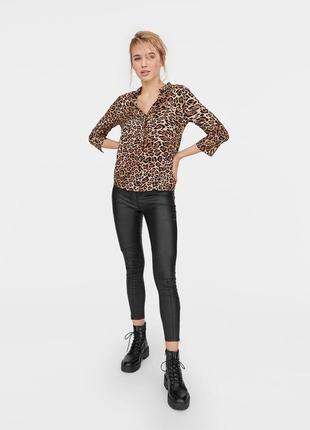 Рубашка блуза свободного кроя леопард принт качественная новая