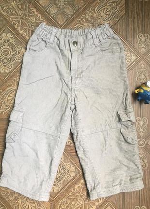 Утепленные вильветовые джинсы