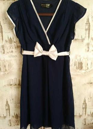 Шикарное летнее платье с завышенной талией