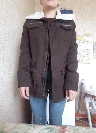 Куртка шерпа удлиненная
