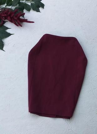 Стильная базовая классическая офисная юбка сзади на золотой молнии от h&m