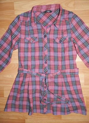 Удлинённая рубашка с пояском george р.135-140