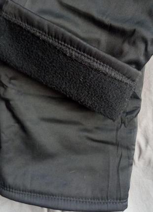 Утеплённые чёрные штаны для девочки 8 лет