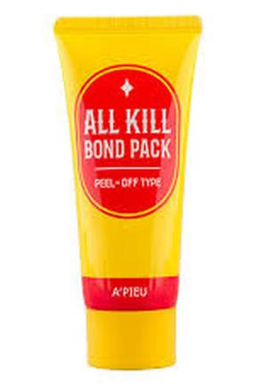 Apieu очищающая маска-пленка all kill bond pack, 60 мл