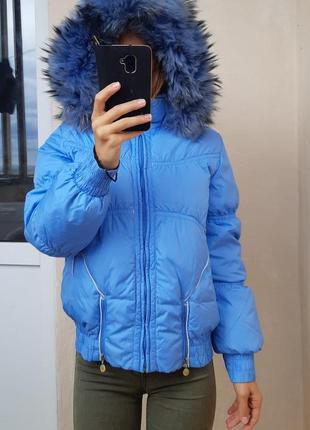 Пуховая женская  куртка аляска finn flare 90% утиный пух