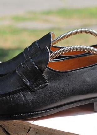 Шикарные кожаные туфли, мокасины zenobi 42-43.  италия