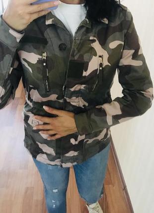 Куртка парка милитари принт 💖