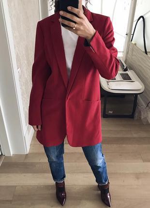 Очень стильный пальто-жакет красивенного цвета от next.
