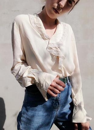 Шелковая рубашка блуза италия