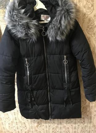 Зимняя куртка с актуальными замками - кольцами