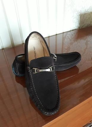 Фирменные статусные натуральная кожа  туфли мокасины jon sonen