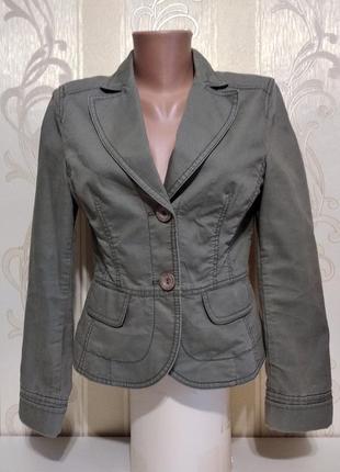 Котоновый пиджак, хаки, идеал.