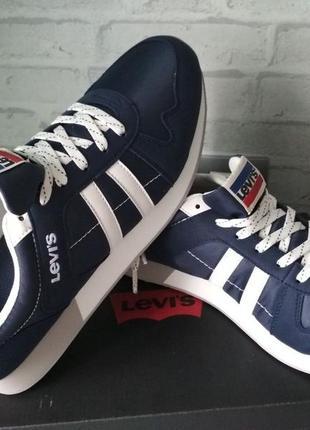 Мужские кроссовки levis синие, 45 размер. оригинал из сша