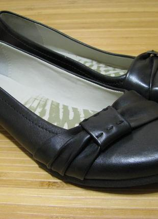 Туфли, балетки clarks cushion soft (кожа)