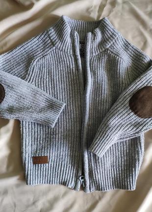 Вязаный свитер rebel с накладками на локтях