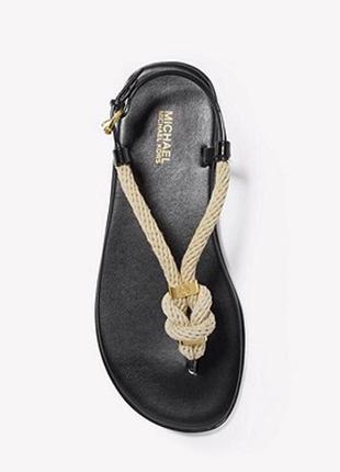 Босоножки сандалии michael kors оригинал с коробкой на узел резиновые кожаная стелька