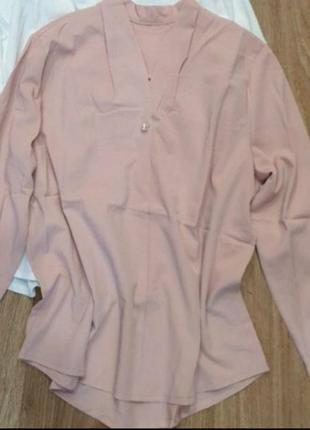 Блузы с жемчужинами, размер 48