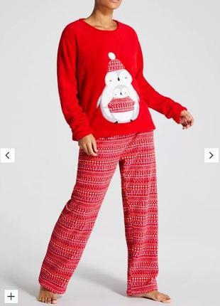 Флисовая пижамка от matalan из англии. размер 12-14.16-18 акция!