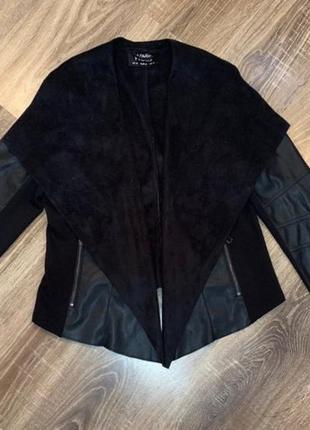 Куртка кардиган искусственная кожа