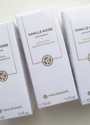 Парфюмированная вода vanille noire - черная ваниль 50мл ив роше yves rocher