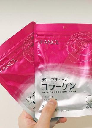 Коллаген- для красивой и упругой кожи fancl deep charge collagen, . япония .