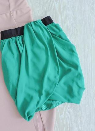 Шифоновая юбка с имитацией запаха