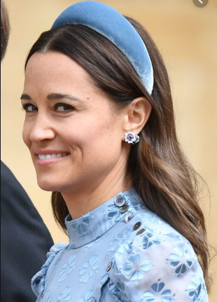 Ободок обруч повязка на волосы бархат бархатный объёмный серый новый качественный