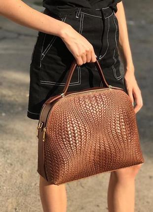 Кожаная коричневая сумка италия разные цвета