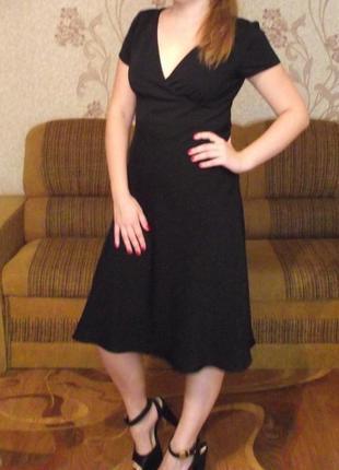 Элегантное чёрное платье от французского бренда la redoute, р.12