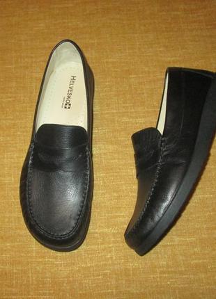 Кожаные мокасины helvesko swiss made мужские туфли