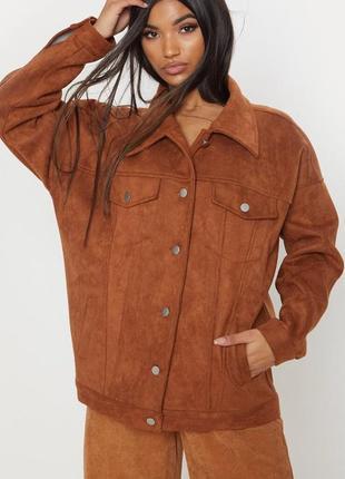 Плотная курточка под замш