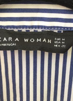 Невероятно красивая рубашка с вышивкой zara , в полоску2 фото