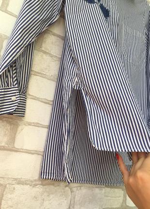 Невероятно красивая рубашка с вышивкой zara , в полоску5 фото