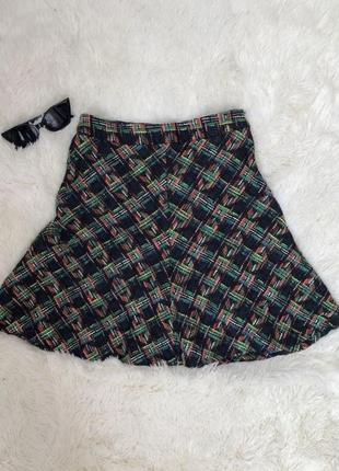Твидовая юбка годе zara woman размер 40 xs