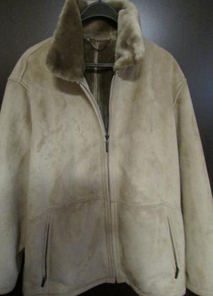 Куртка демисезонная бамбер эко мех дублёнка