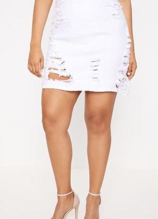 🆘розпродажа -50% -70 %🆘 до 1 октября!🆘  стильная мини юбка с прорехами