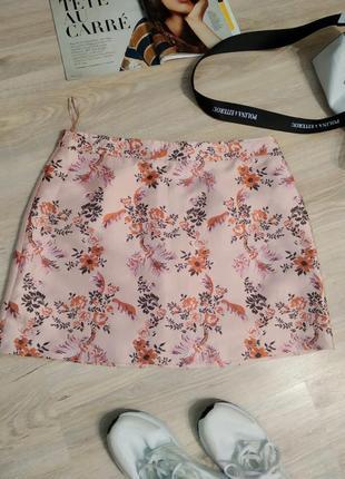Крутая стильная мини юбка прямого покроя в китайском стиле вечерний вариант