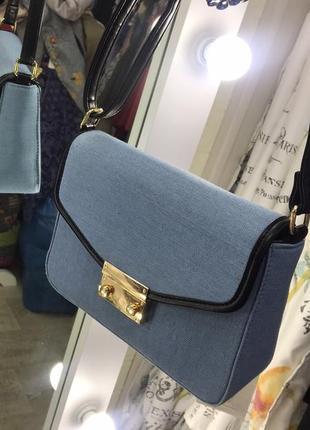 Эффектная джинсова сумочка-клатч