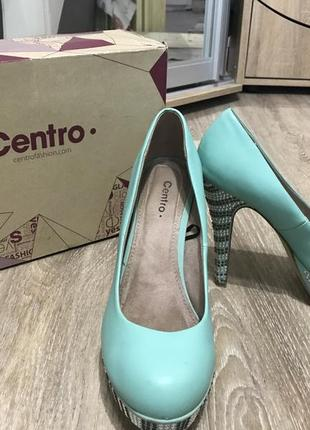 Туфли мятного цвета centro