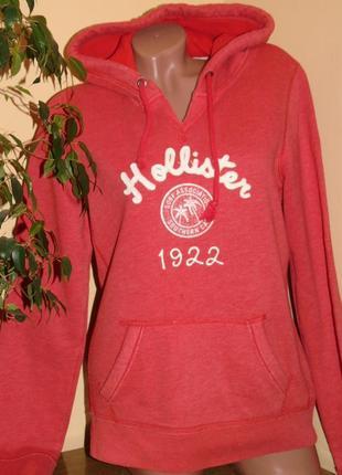 Hollister шикарная брендовая толстовка с капюшоном - l