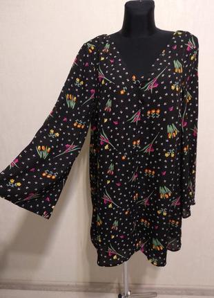 Нежное яркое платье с открытой спинкой в в цветочный принт,цветочек glamorous