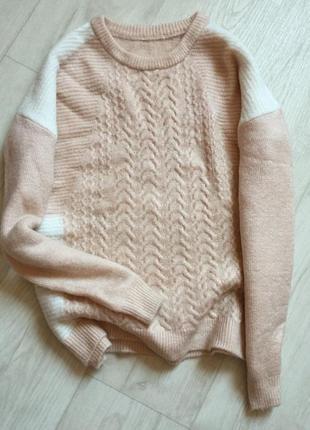 Пудровый свитер свободного кроя  tu