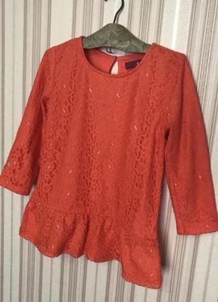 Кружевная блузка с баской от epic threads