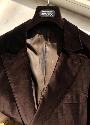 Бархатный пиджак francesco smalto