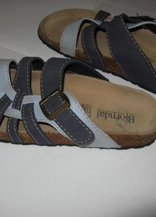 Рр 39 ортопедические кожаные шлепки сандали bjorndal