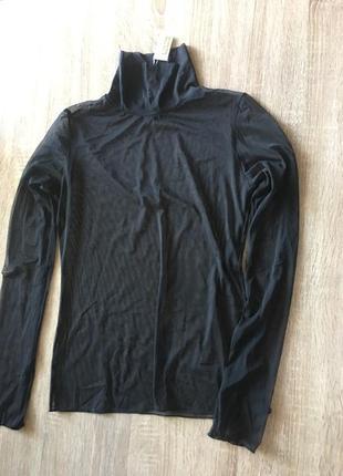 Гольф итальянский из тонкой сеточки philippe matignon чёрный